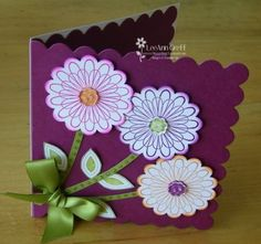 Scallops & Posies by flowerbugnd1 - Cards and Paper Crafts at Splitcoaststampers