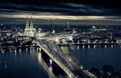 #Cologne #cathedral #Germany #cityscape #skyline #panorama  #blackandwhite #photography #longexposure