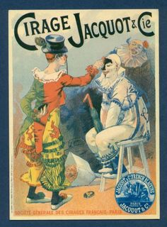Circus Postcard Applying Makeup