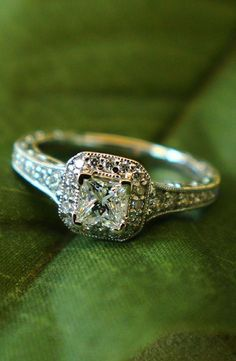 Victorian Halo Engagement Ring