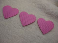 Items similar to Embossed Paper Piece Set of Very Pretty Tickle Me Pink Embossed Paper Hearts Scrapbook Embellishments on Etsy Embossed Paper, Scrapbook Embellishments, Paper Hearts, Valentines, Unique Jewelry, Handmade Gifts, Pretty, Pink, Valentine's Day Diy