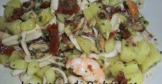 La cucina di Ombraluce: Insalata di mare piccante con pomodori secchi, patate e noci