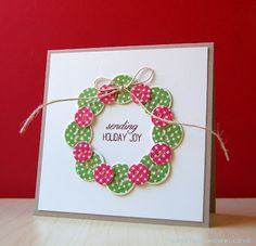 Button Wreath Card by Cristina Kowalczyk for Papertrey Ink (September 2012)
