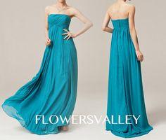 Bridesmaid Dress / Romantic / dresses /Fairy / Dreamy / Bridesmaid / Party / wedding / Bride /Teal