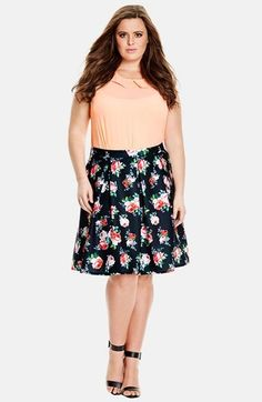 f93cb6a1175a2 City Chic  Candy Bloom  Pleat Skirt (Plus Size) Fashion Tips