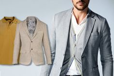 Matching #polo and #blazer: the true smart-casual soul. Discover our #style recommendation.