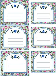 Imprimolandia: Etiquetas florales