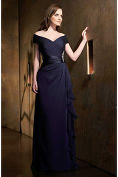 149.00$ Watch now - http://vikxs.justgood.pw/vig/item.php?t=8dke608194 - Sexy V-neck Mother of the Bridal Dresses Woman Chiffon Party Dance Evening Gowns 149.00$