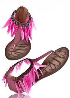 Feather Sandals. I seriously NEED these.
