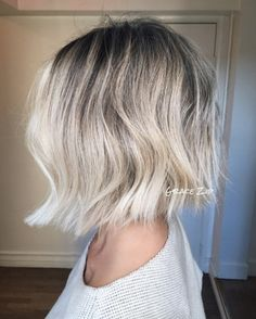 Platinum blonde ombre by Grace Zip