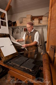 The Print Shop in Colonial Williamsburg's Historic Area. Williamsburg, Virginia Photo by David M. Doody