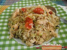 Quinoa zucchine e salmone per un primo piatto gustoso e facile da preparare ! Vieni a trovarmi anche su ricettegustose.it , altre ricette per cucinare ..