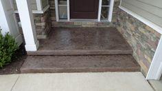Toledo OH - Decorative Concrete Front Steps Concrete Front Steps, Concrete Resurfacing, Concrete Contractor, Decorative Concrete, Home Reno, Reno Ideas, Hgtv, Front Porch, Porches