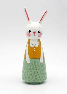 rabbit+peg+dolll+animal+peg+doll+house+heirloom+by+SeptemberLane