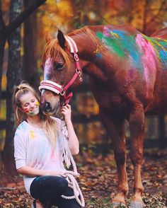 Cowboy and Reagan. Looks like horse was part of painting therapy!