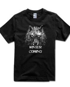 Game of Thrones Season 5 black t shirt cool House Stark Wolf mens t shirts short sleeve for summer - Wolf T Shirt, House Stark, Custom Printed Shirts, Print Store, Summer Wear, Hoodies, Sweatshirts, Cool Style, Game