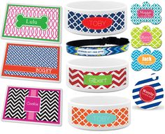 Super CUTE! Love the Chevron, Lattice, Quatrefoil, and Ikat, as well as classic stripes, polka dots and houndstooth designs, too!