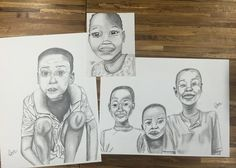 Amazing pencil drawings by @isa_sichler based off of photos taken on her outreach trip to Ghana! -  You should also check out our blog with more student work! The link is in our bio :)