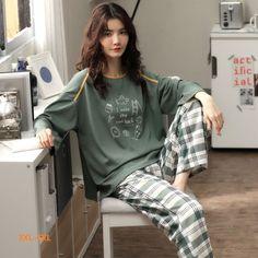 Cute Pajama Sets, Cute Pajamas, Pajamas Women, Comfy Pajamas, Korean Outfit Street Styles, Korean Outfits, Look Fashion, Fashion Outfits, Fashion Women
