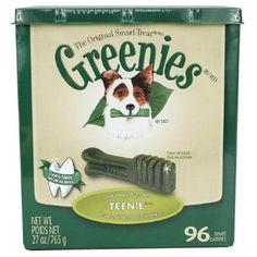 Greenies 27 oz Canister Teenie 96 Count --- http://www.amazon.com/Greenies-27-Canister-Teenie-Count/dp/B001G96UK8/?tag=affpicntip-20