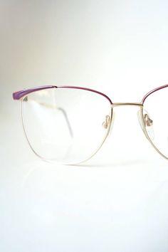 e22aef9565c 1980s Oversized Womens Eyeglasses Wayfarer Eggplant Oxblood Dark Mauve 80s  Eighties Indie Hipster Chic Geek Chic Nerdy Eighties NOS
