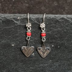 87db19403 Coral and Sterling Silver 'Tuareg' Earrings – Beyond Biasa African Design,  North Africa