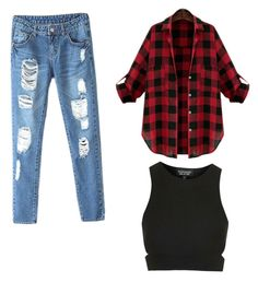"""""""Unbenannt #1"""" by kathalin ❤ liked on Polyvore featuring Topshop"""