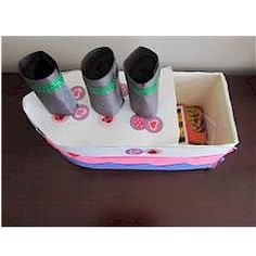 Show the kids how to Make A Ship From A Recycled Milk Carton and watch the fun that happens when they are finished with the project. They can use it in many ways. Make A Boat, Build Your Own Boat, Recycled Crafts, Recycled Materials, School Projects, Projects For Kids, Fun Crafts, Crafts For Kids, Boat Crafts