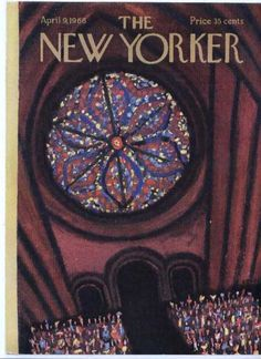 New Yorker cover KrausStained GlassRosette 040966