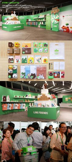 In Aug LINE has designed a conference for the participants to identify their performance as well as to provide an experience of the brand itself, LINE. The event includes human-scaled LINE character dolls which let people to interact with out of the… Display Design, Booth Design, Line Branding, Branding Design, Education Conferences, Innovation Centre, Artist Alley, Line Friends, Visual Merchandising