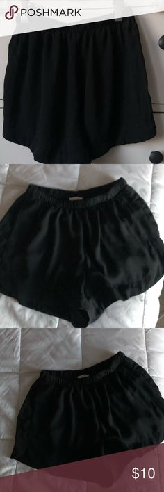 Brandy Melville thin stretchy shorts one size Brandy Melville woman's stretchy shorts one size. Worn only a few times in perfect condition. It is one size but can most likely fit a size xs to maybe a small or medium . Has a stretchy waist . Thin material has pockets. Material is 100% rayon . Open to price adjustments :). Brandy Melville Shorts