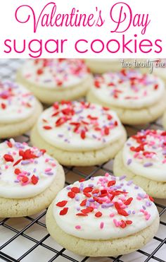 Easy Valentine's Day sugar cookies! No rolling and cutting necessary!