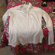 Tops The Nike is a M/L. The second is forever 21 long sleeve slightly cropped size M/L also. The Jean shirt says size small but fits A Medium definitely and the last one is the PINK shirt and is one size fits all Tops