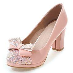 Homme-Mariage+Habillé+Soirée+&+Evénement-Noir+Rose+Blanc-Gros+Talon-club+de+Chaussures-Chaussures+à+Talons-Similicuir+–+EUR+€+26.99