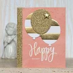 Love all the Sparkle on this card by Lucy Abrams using Simon Says Stamp Exclusives.