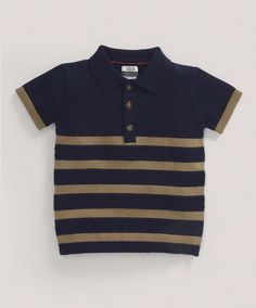 £16 Boys Limited Edition Knitted Stripe Polo Shirt - NEW Arrivals - Mamas & Papas
