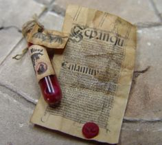 Vampire Blood and wax seal document