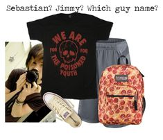 """""""Untitled #1464"""" by shiasunflower ❤ liked on Polyvore featuring NIKE, Converse and JanSport"""