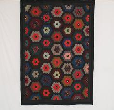 Wool Mosaic. c.1885. 60 x 84 (152.4 x 213.4 cm). Pennsylvania