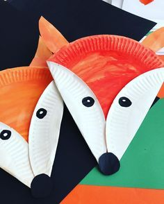 Paper plate foxes | craft