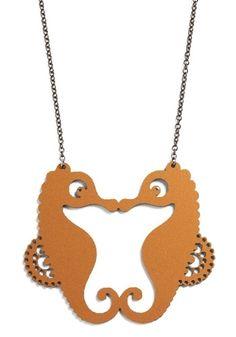 Sight to Seahorse Necklace | Mod Retro Vintage Necklaces | ModCloth.com - StyleSays