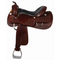 COUNTRY LEGEND GRADY REINING SADDLE WITH RALIDE TREE #reining #saddle  www.westernrawhide.com Reining Horses, Western Tack, Silver Flowers, Dark Brown Leather, Saddles, Horse Tack, Country, Feels, Smooth
