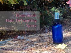 Homemade Hair Detangling Spray  Costs less than $.50 to make!