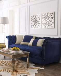 Seating - Haute House Horton Navy Velvet Sofa I Horchow - navy blue velvet sofa, navy button tufted velvet sofa, navy tufted sofa with nailhead trim, navy velvet sofa with nailhead trim, Gebogenes Sofa, Velvet Tufted Sofa, Blue Velvet Sofa, Velour Sofa, Suede Sofa, Leather Sofas, Sectional Sofas, My Living Room, Home And Living