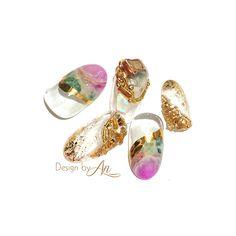 . . 💎Imaginary stone💎 . 実際には存在しない想像(上)の天然石デザイン を今年は増やしていきたいなと思います☺︎♡ . ゴールドのキューティクル側についている素材は キャンディーポケット🍬で販売開始になったものです♪… Japanese Nail Art, Summer Nails, Nail Designs, Gemstone Rings, Gemstones, Makeup, Jewelry, Nailart, Paris
