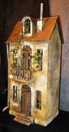 Quirky, Unusual Dollhouse by Etsy artist EkaKaramelka