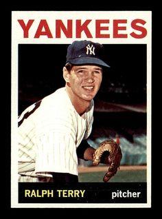 1964 Topps Ralph Terry Baseball Card for sale online Damn Yankees, Yankees Fan, New York Yankees, Greg Maddux, Baseball Cards For Sale, Baseball Photos, Yankee Stadium, Baseball Players, Mlb