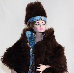 Whimsical Cotton Skirt, Top and Faux Fur Coat with Matching  Hat fits Silkstone, Fashion Royalty, Victoire, Poppy Parker by Boutiquewindow on Etsy