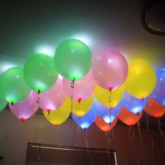 LED Light Balloons For New Year Party Decor