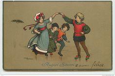 N°3967 - Ethel Parkinson - Auguri Sinceri - Enfants Dansant - Parkinson, Ethel